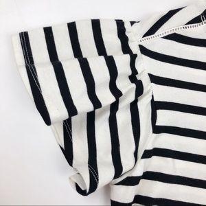 kate spade Tops - Kate Spade Stripe Drop Shoulder Tee XS